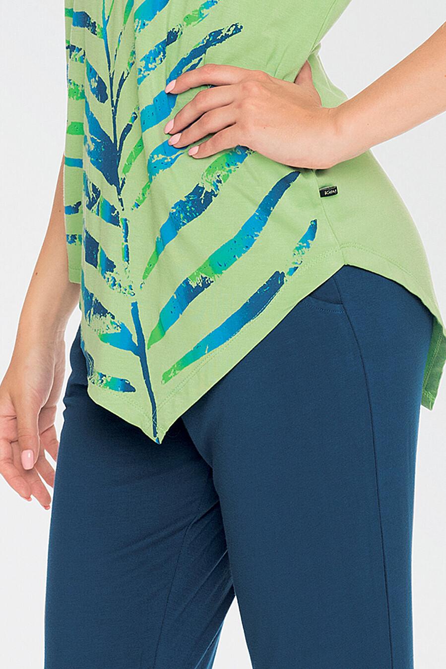 Комплект (Футболка+Бриджи) для женщин KEY 116702 купить оптом от производителя. Совместная покупка женской одежды в OptMoyo