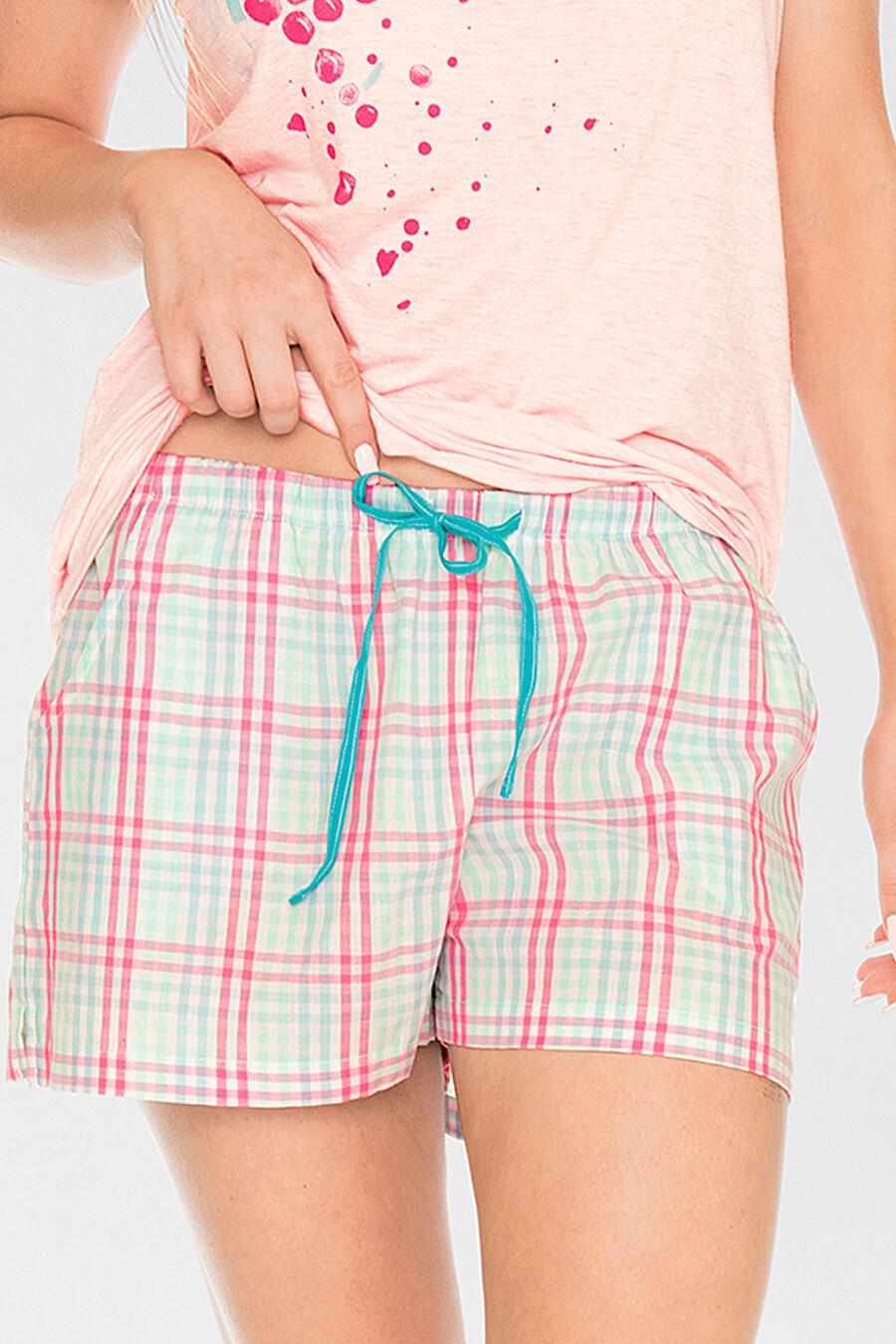 Комплект (Футболка+Шорты) для женщин KEY 116740 купить оптом от производителя. Совместная покупка женской одежды в OptMoyo