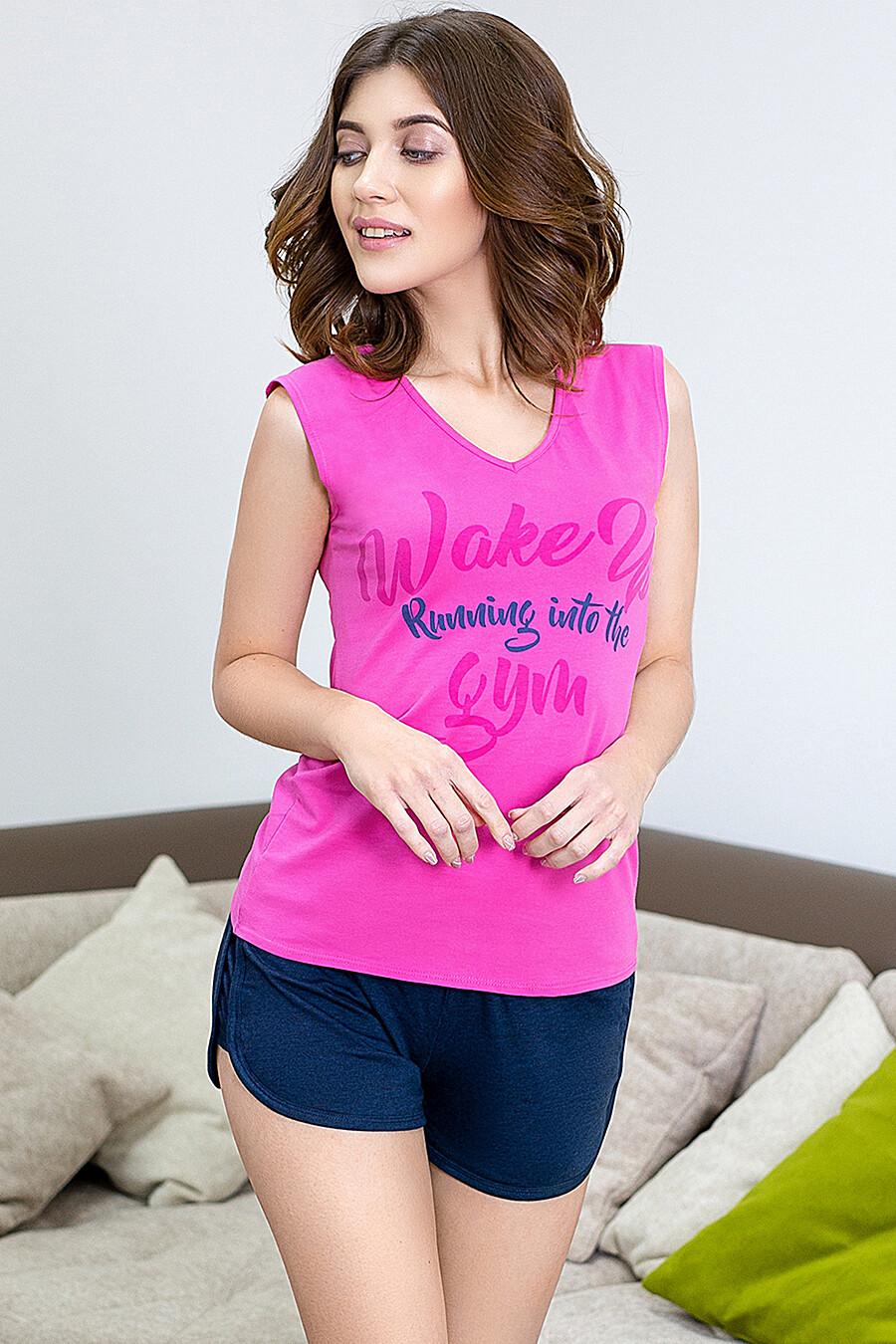 Комплект (Майка+Шорты) для женщин LEINLE 116822 купить оптом от производителя. Совместная покупка женской одежды в OptMoyo