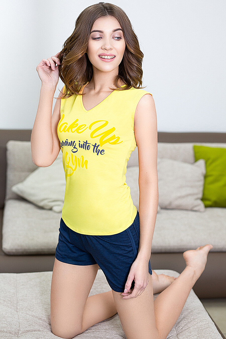 Комплект (Майка+Шорты) для женщин LEINLE 116824 купить оптом от производителя. Совместная покупка женской одежды в OptMoyo