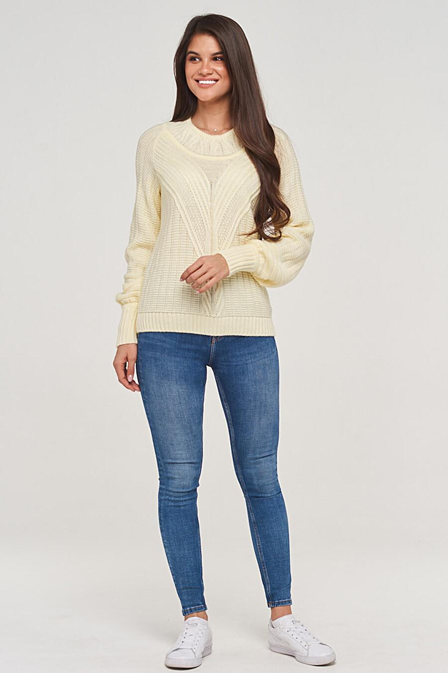 Джемпер для женщин VAY 155267 купить оптом от производителя. Совместная покупка женской одежды в OptMoyo