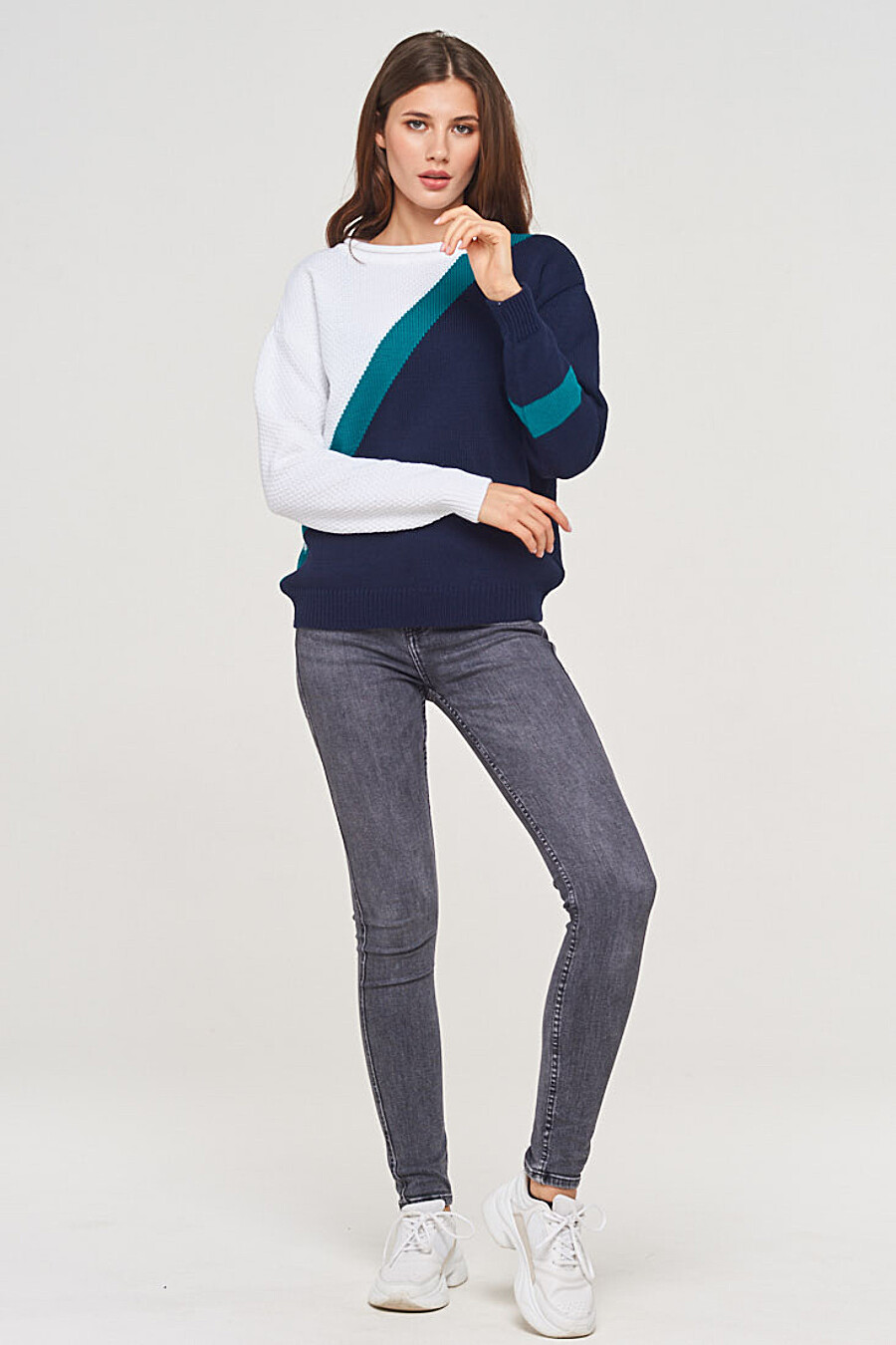 Джемпер для женщин VAY 155280 купить оптом от производителя. Совместная покупка женской одежды в OptMoyo