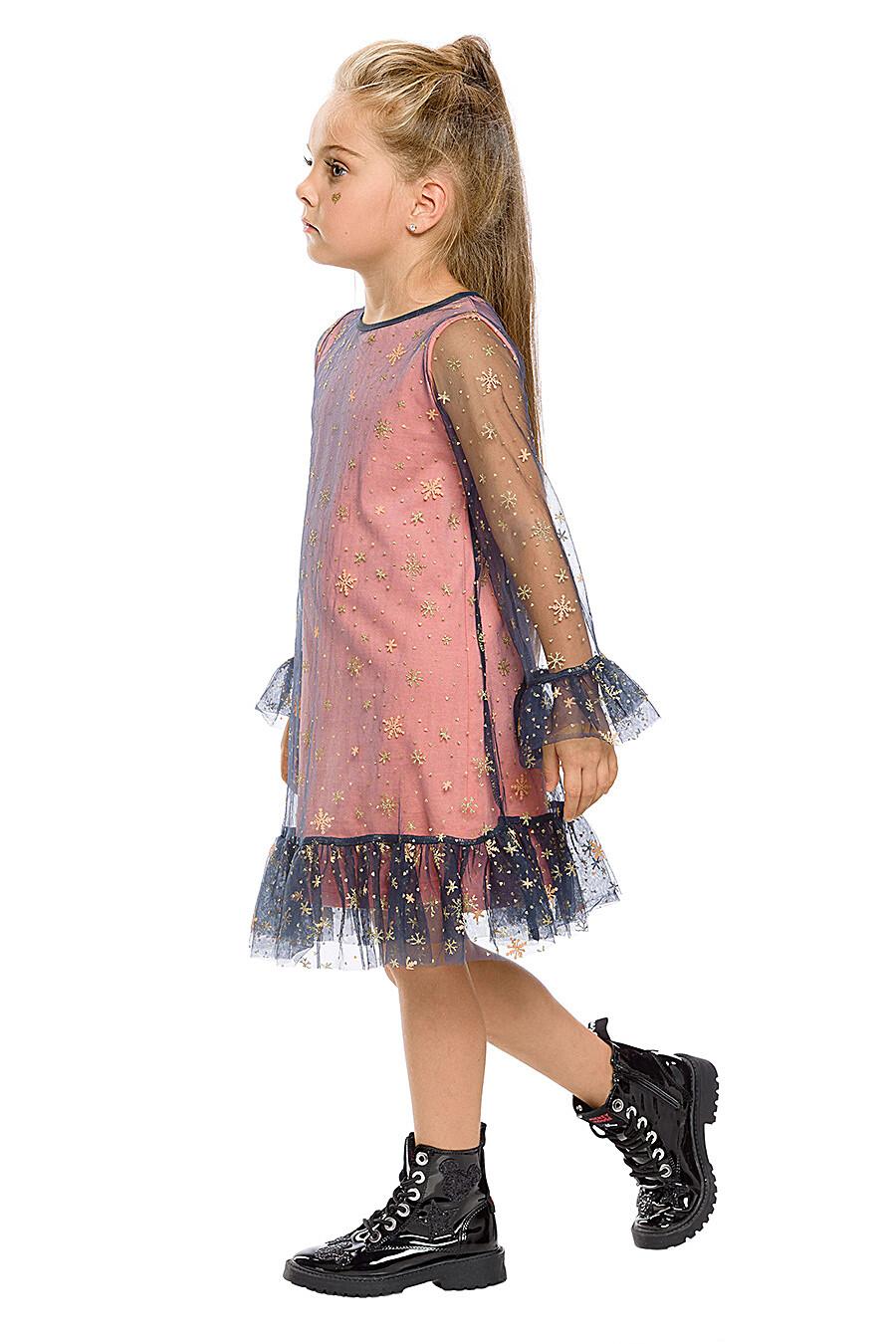 Платье для девочек PELICAN 161239 купить оптом от производителя. Совместная покупка детской одежды в OptMoyo