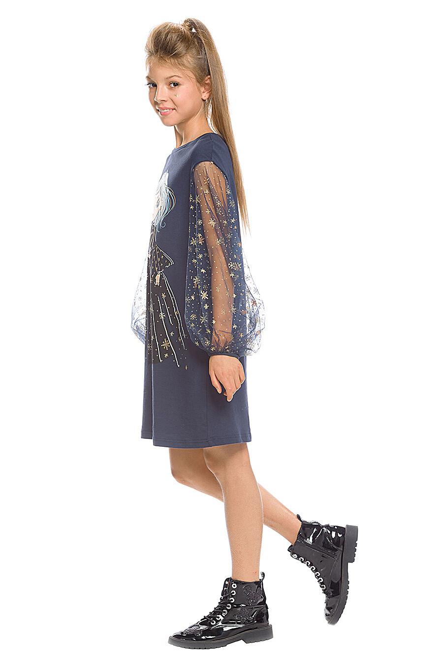Платье для девочек PELICAN 161242 купить оптом от производителя. Совместная покупка детской одежды в OptMoyo