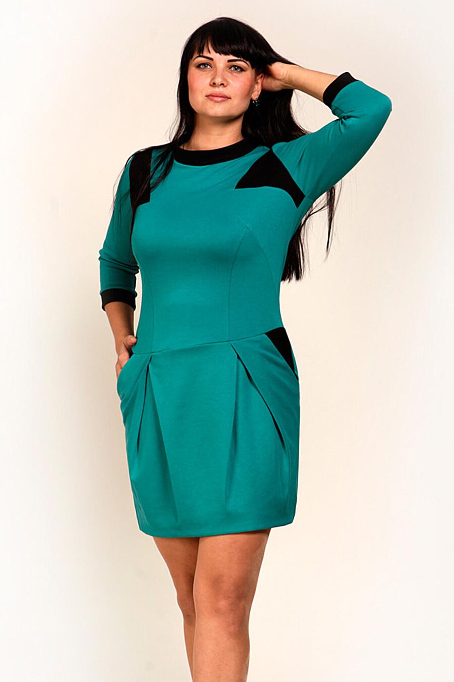 Платье для женщин DREAM WORLD 165409 купить оптом от производителя. Совместная покупка женской одежды в OptMoyo