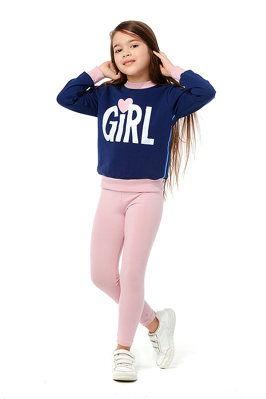 Толстовка для девочек LUCKY CHILD 184474 купить оптом от производителя. Совместная покупка детской одежды в OptMoyo