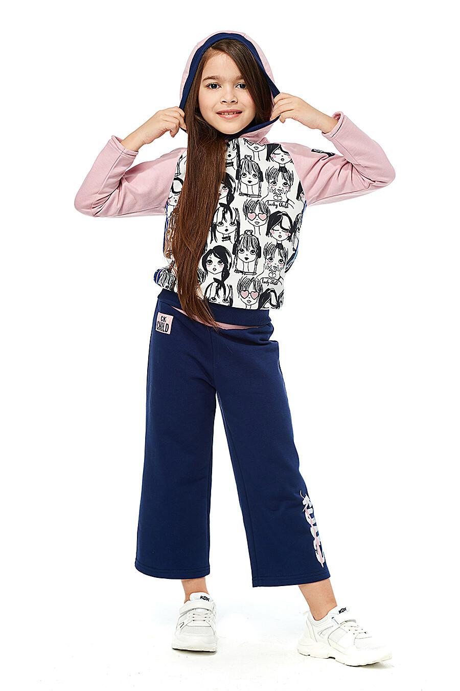 Брюки для девочек LUCKY CHILD 184481 купить оптом от производителя. Совместная покупка детской одежды в OptMoyo