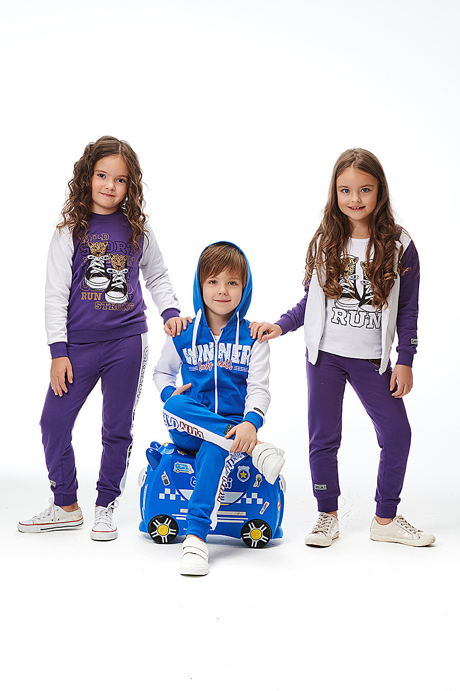 Костюм (Брюки+Толстовка) для девочек LUCKY CHILD 184631 купить оптом от производителя. Совместная покупка детской одежды в OptMoyo