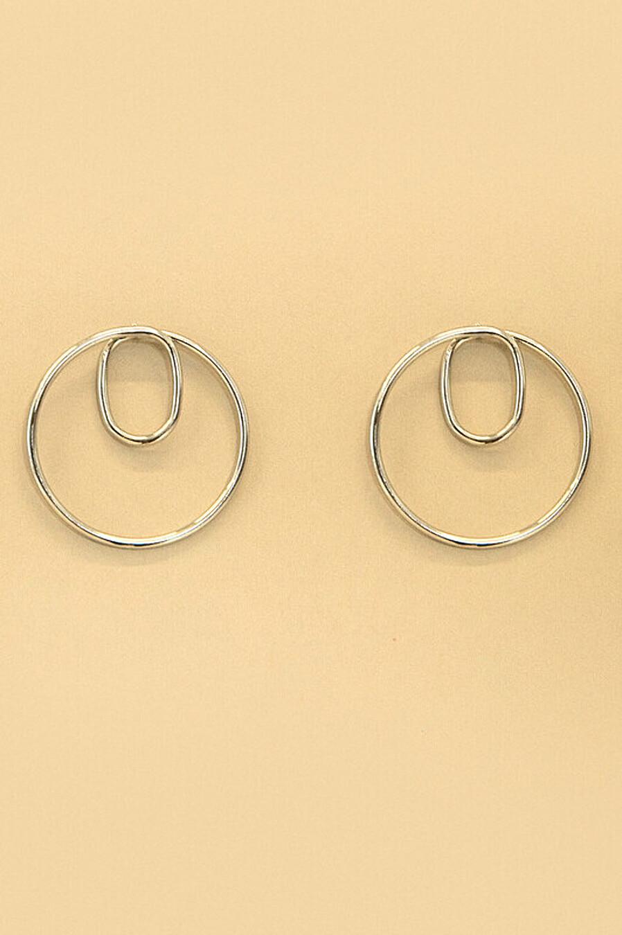 Серьги для женщин ZARINA 204993 купить оптом от производителя. Совместная покупка женской одежды в OptMoyo
