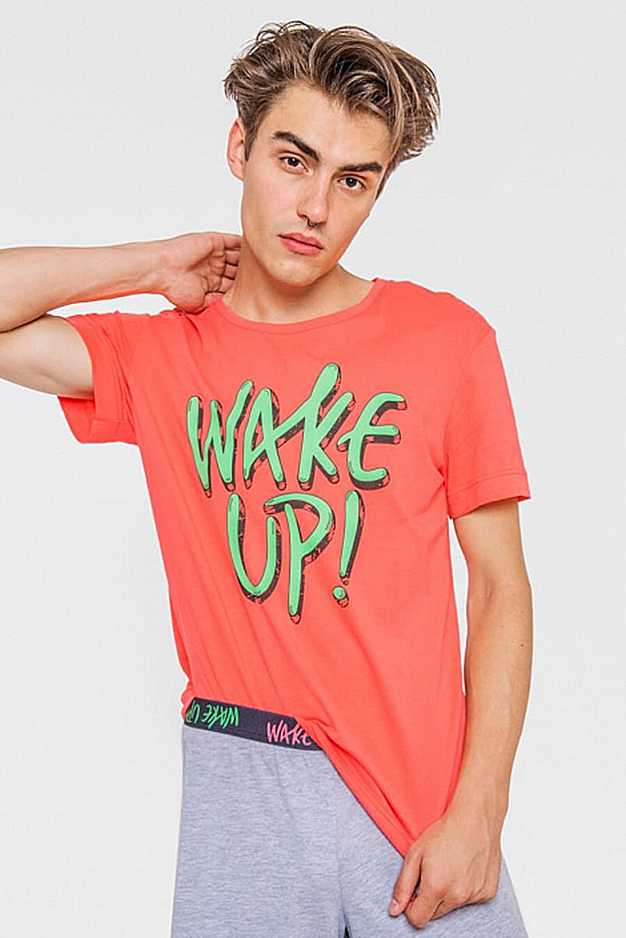 Комплект (футболка, шорты) для мужчин MARK FORMELLE 218327 купить оптом от производителя. Совместная покупка мужской одежды в OptMoyo