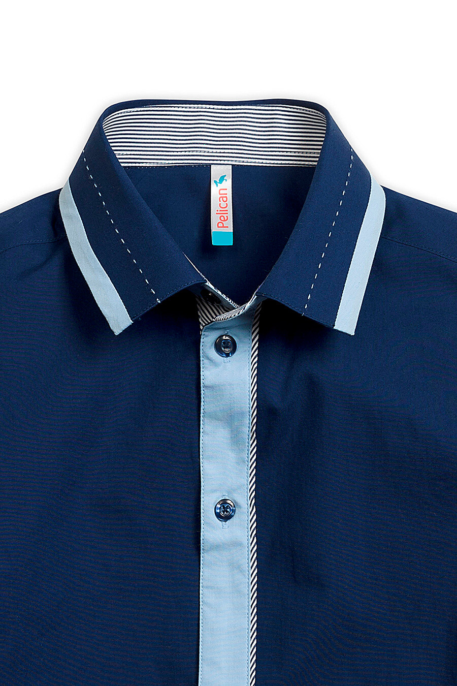 Сорочка для мальчиков PELICAN 218581 купить оптом от производителя. Совместная покупка детской одежды в OptMoyo