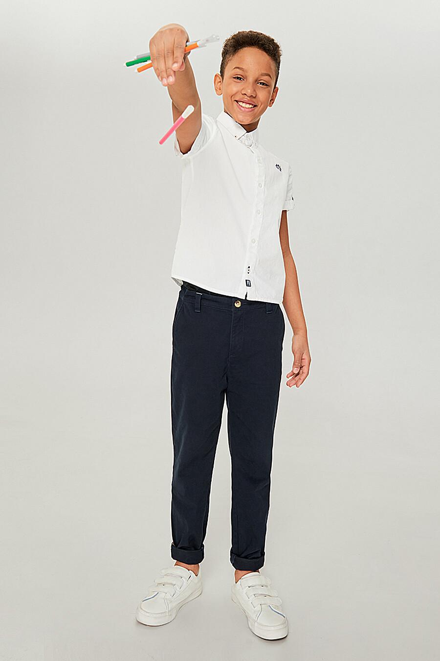 Рубашка для мальчиков IN FUNT 219104 купить оптом от производителя. Совместная покупка детской одежды в OptMoyo