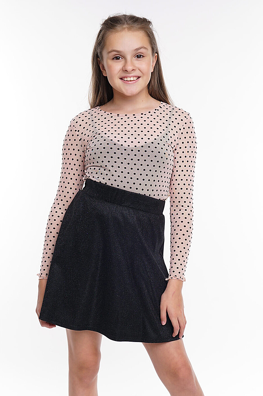 Блузка для девочек CLEVER 272896 купить оптом от производителя. Совместная покупка детской одежды в OptMoyo
