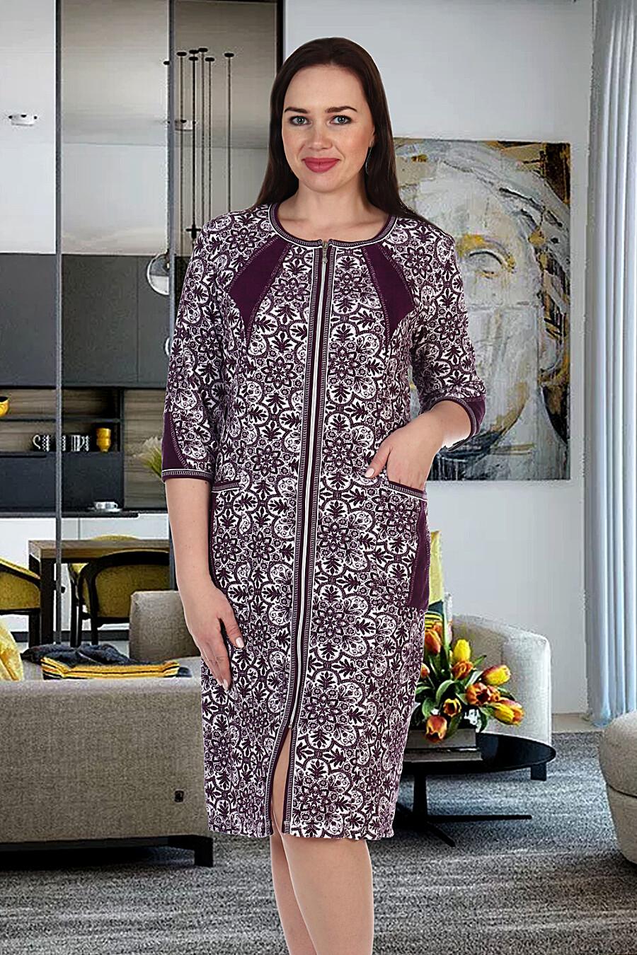 Халат 1222 махра для женщин НАТАЛИ 288397 купить оптом от производителя. Совместная покупка женской одежды в OptMoyo