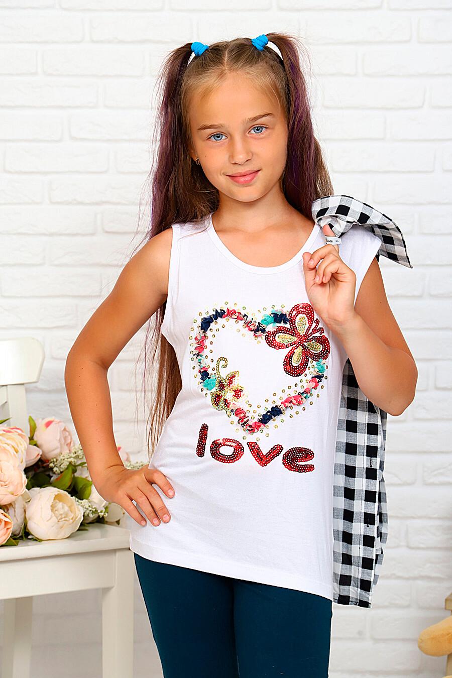 Комплект(Рубашка+майка) для девочек SOFIYA37 667893 купить оптом от производителя. Совместная покупка детской одежды в OptMoyo