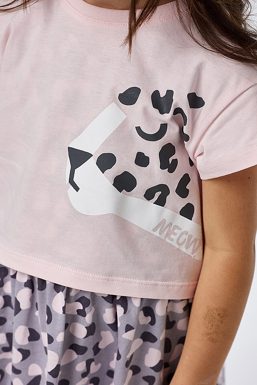 Комплект (Сарафан+Футболка) для девочек UMKA 700399 купить оптом от производителя. Совместная покупка детской одежды в OptMoyo