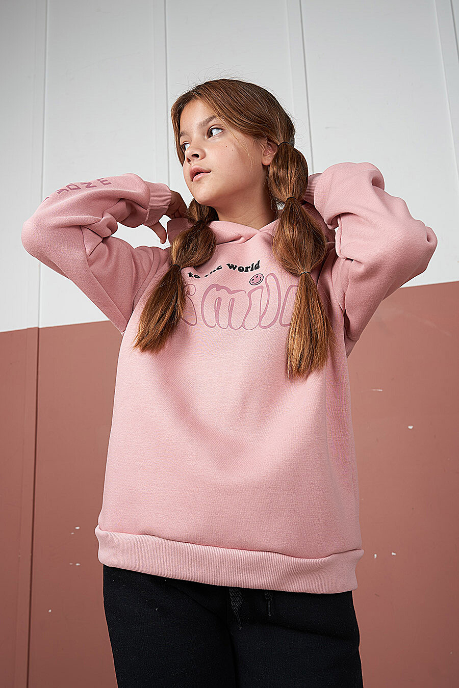 Худи для девочек ELARIA 707607 купить оптом от производителя. Совместная покупка детской одежды в OptMoyo