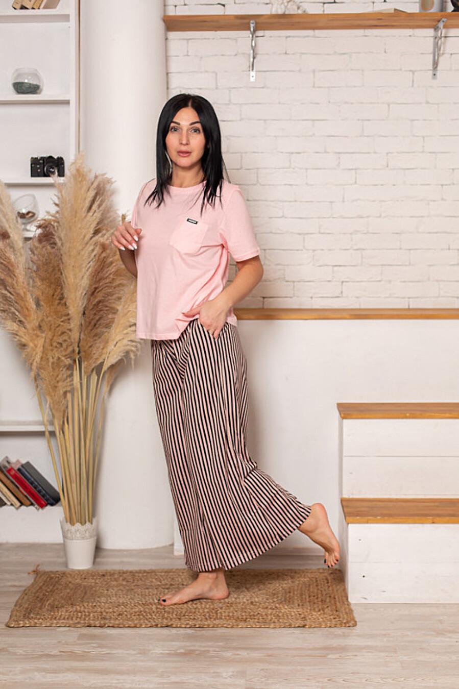 Костюм (футболка+брюки) для женщин SOFIYA37 708053 купить оптом от производителя. Совместная покупка женской одежды в OptMoyo