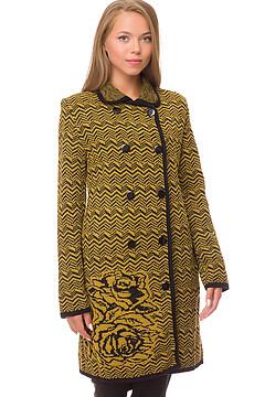 Вязанное пальто