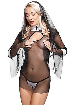 Эротический костюм монахини КРАСНАЯ ЖАРА