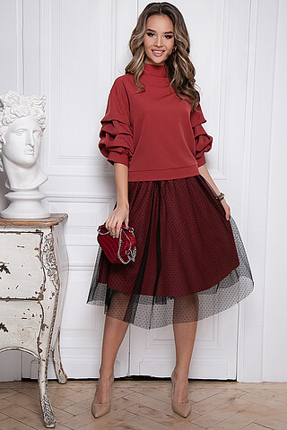 Костюм(костюм+блуза) BELLOVERA