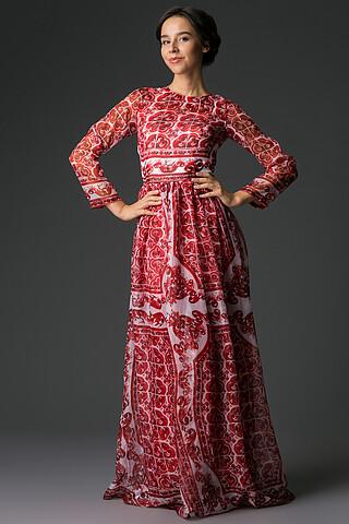 Длинное платье с узорами гжель Nothing But Love