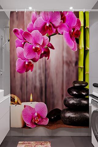 Фотошторы для ванной 10706 НАТАЛИ