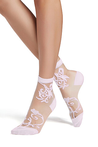 """Набор 2 пары носков носки с вышивкой носки летние носки капроновые носки с узором """"Цветочная пыльца"""" Nothing But Love"""