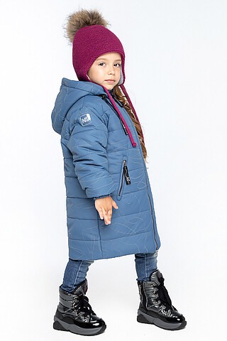 Пальто 6з3821 джинсовый NIKASTYLE