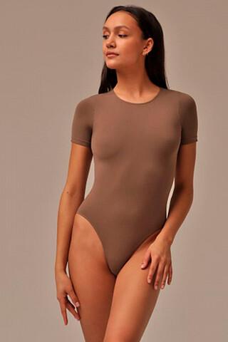 MY Боди женское BO293 BODY T-SHIRT (1/68) (wood (темно-бежевый) MY