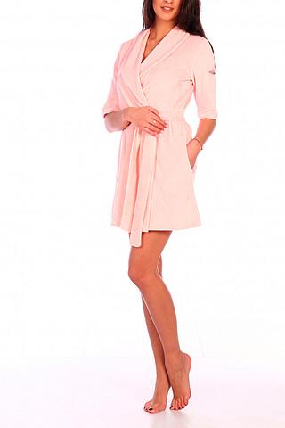 Халат трикотажный (розовый) RAPOSA