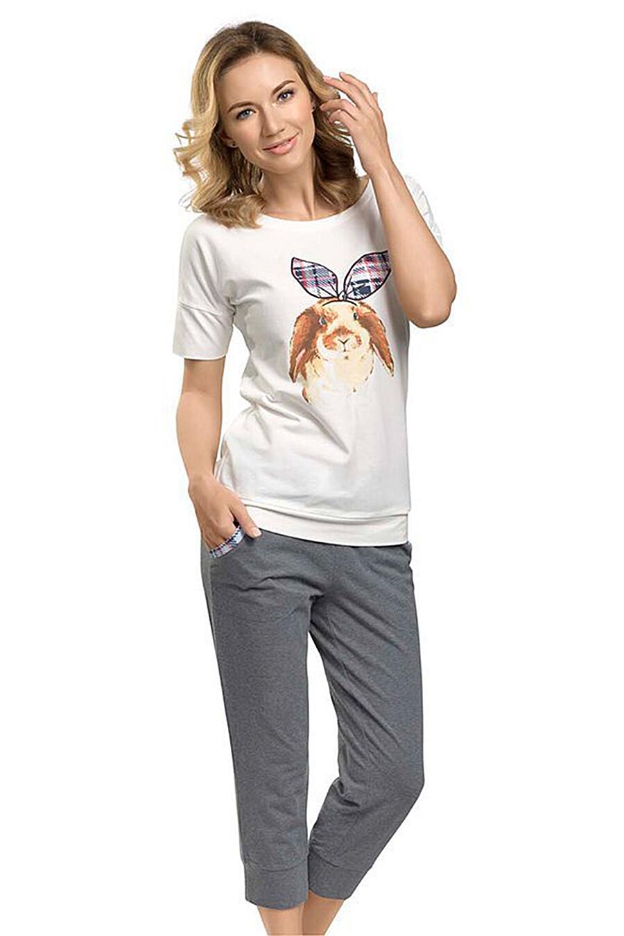 Пижама (Футболка+Брюки) для женщин PELICAN 111395 купить оптом от производителя. Совместная покупка женской одежды в OptMoyo