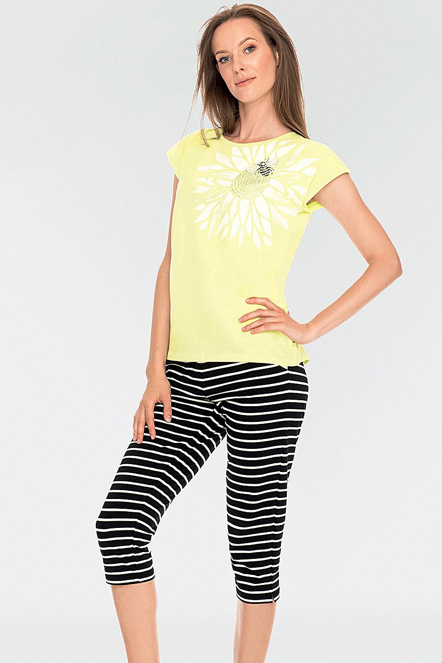 Комплект (Футболка+Бриджи) для женщин KEY 116733 купить оптом от производителя. Совместная покупка женской одежды в OptMoyo