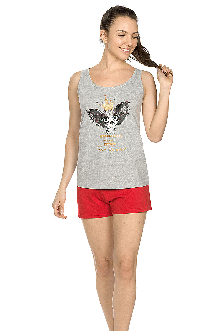 Комплект (Шорты+Майка) для женщин PELICAN 146709 купить оптом от производителя. Совместная покупка женской одежды в OptMoyo