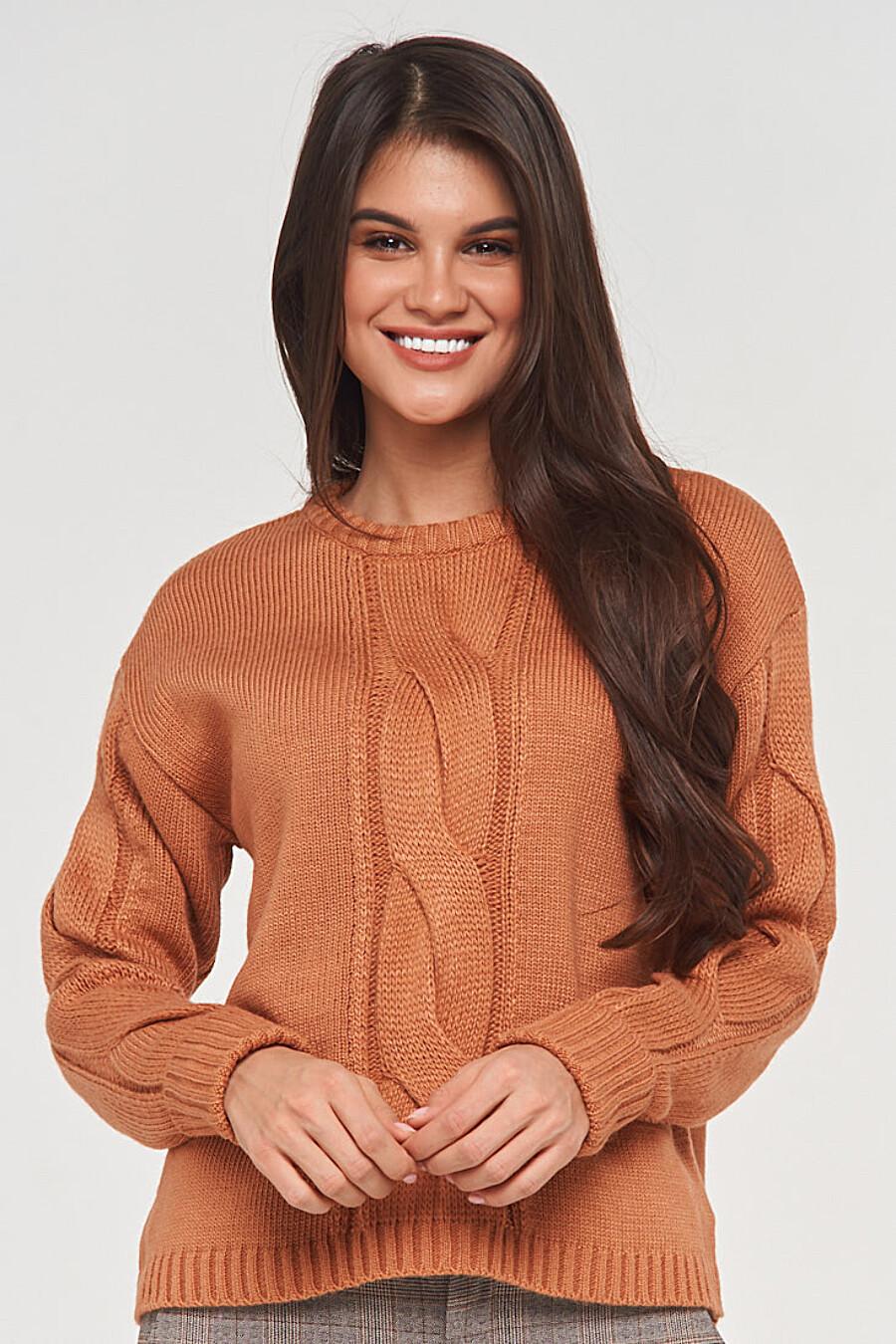 Джемпер для женщин VAY 155265 купить оптом от производителя. Совместная покупка женской одежды в OptMoyo