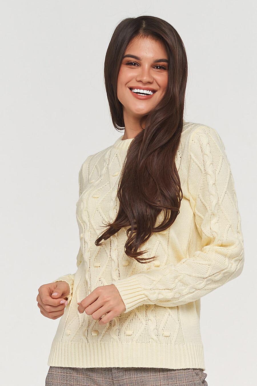 Джемпер для женщин VAY 155277 купить оптом от производителя. Совместная покупка женской одежды в OptMoyo