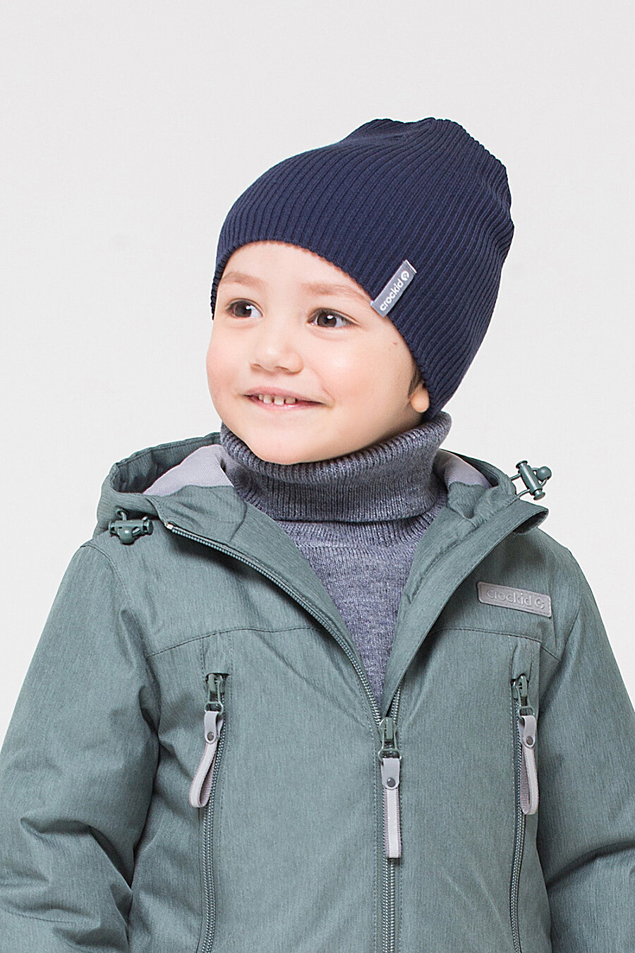 Шапка для мальчиков CROCKID 175804 купить оптом от производителя. Совместная покупка детской одежды в OptMoyo
