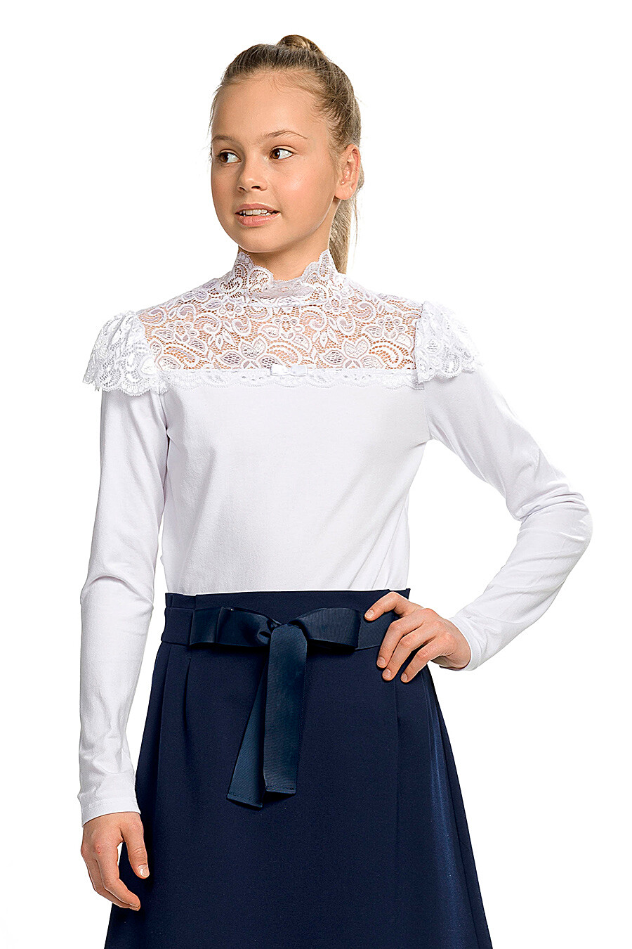 Блузка для девочек PELICAN 218562 купить оптом от производителя. Совместная покупка детской одежды в OptMoyo