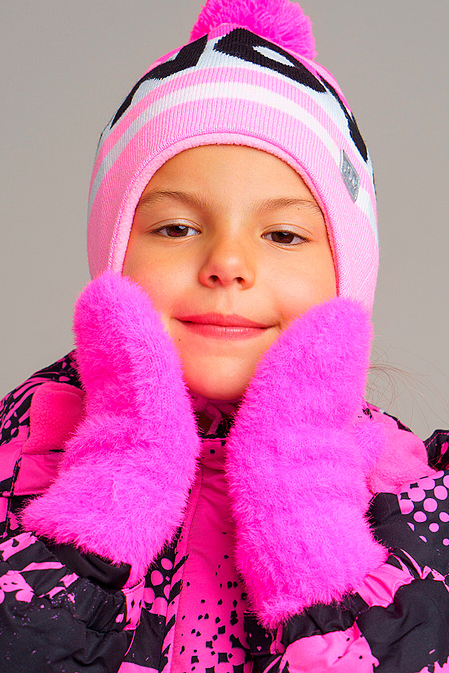 Варежки для девочек PLAYTODAY 239445 купить оптом от производителя. Совместная покупка детской одежды в OptMoyo