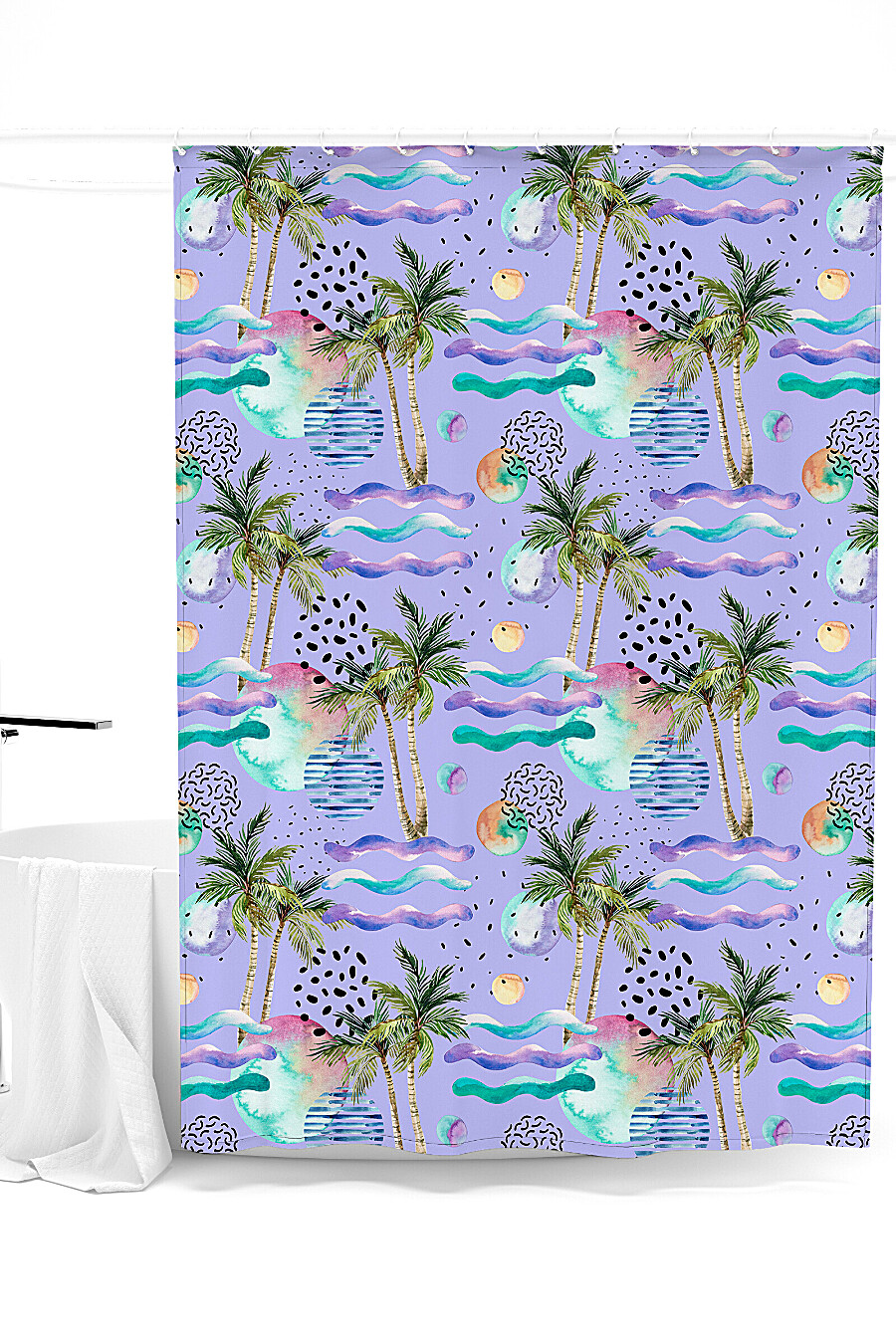 Штора для ванной для дома ART HOME TEXTILE 247866 купить оптом от производителя. Совместная покупка товаров для дома в OptMoyo