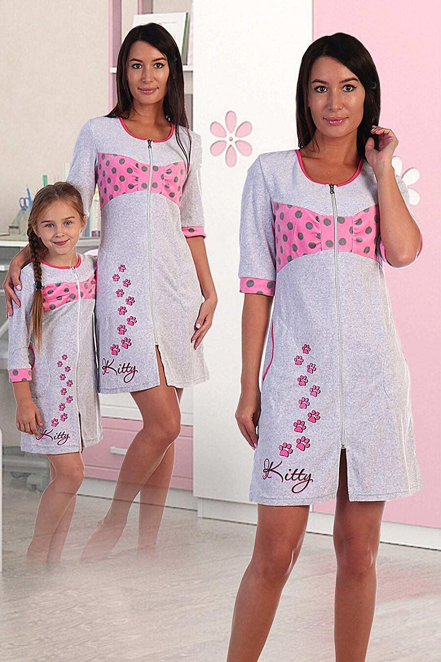 Халат 377 КИСКА велюр для женщин НАТАЛИ 288645 купить оптом от производителя. Совместная покупка женской одежды в OptMoyo