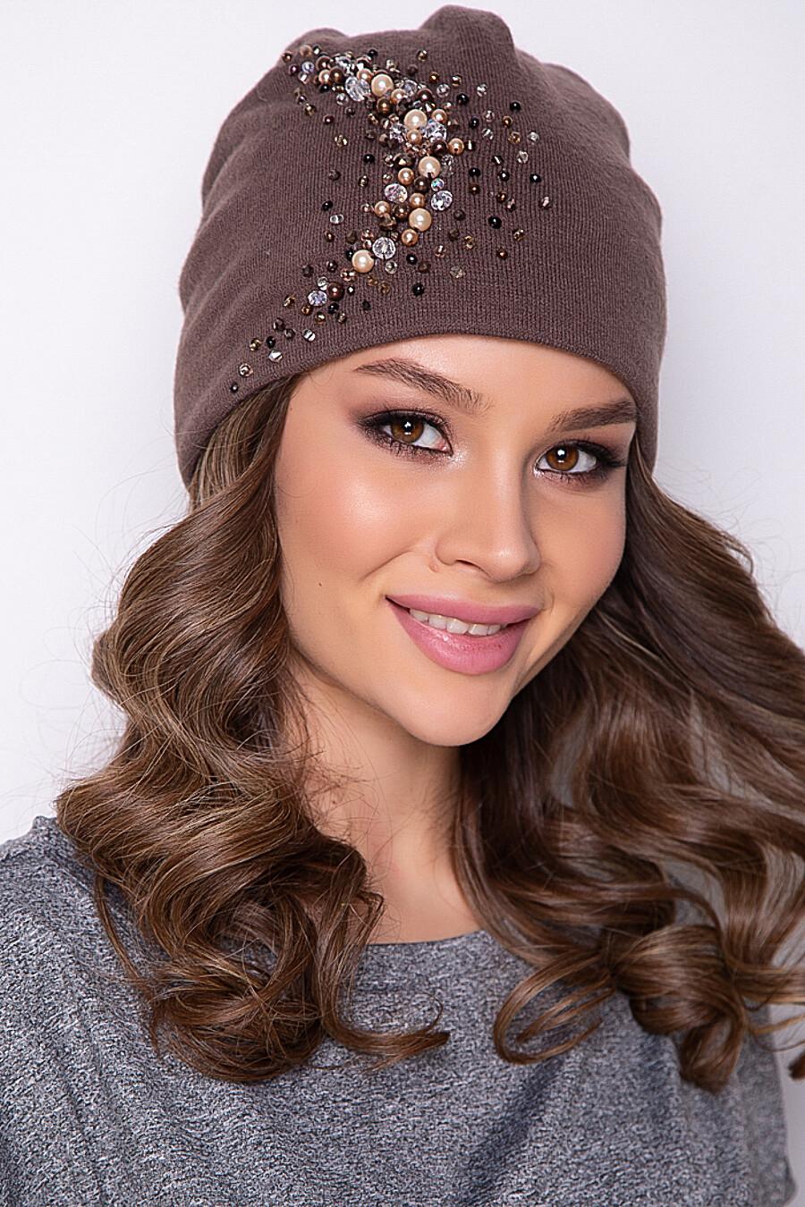 ШАПКА ПЕЛЛА (ЛАЙТ БРАУН) BELLOVERA (289725), купить в Moyo.moda
