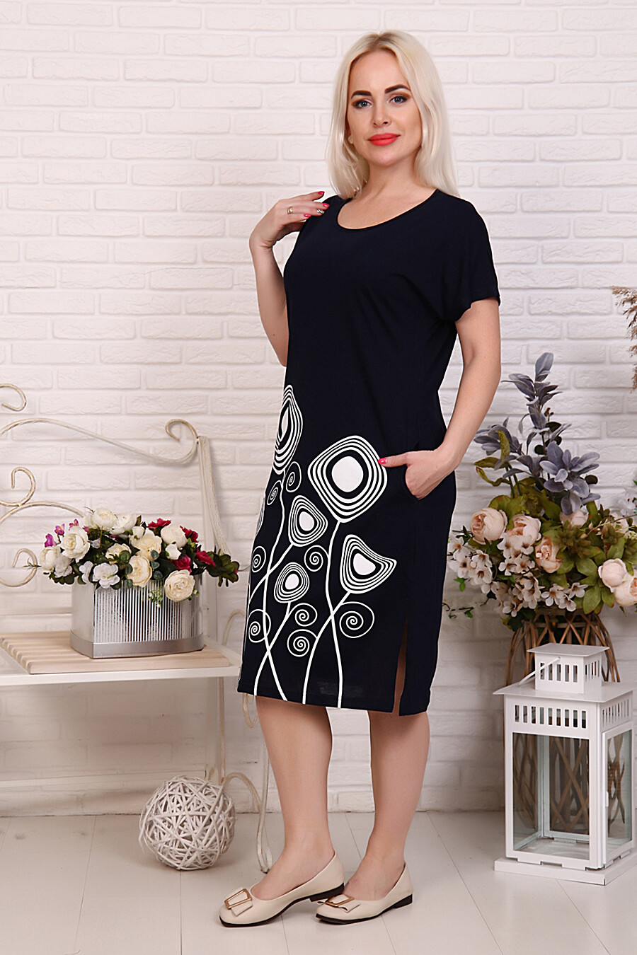 Туника 27566 для женщин НАТАЛИ 649326 купить оптом от производителя. Совместная покупка женской одежды в OptMoyo