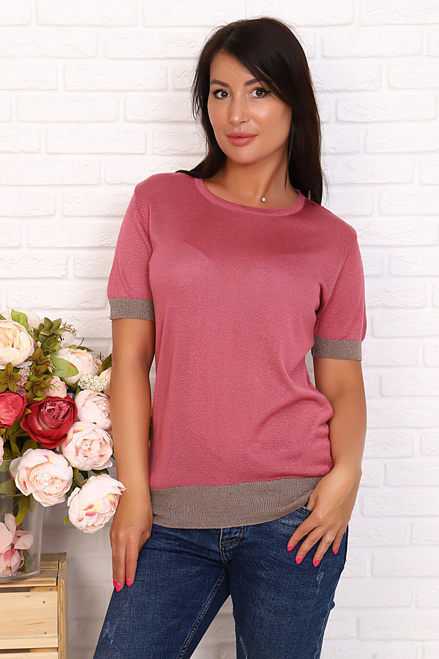 Джемпер 6585 для женщин НАТАЛИ 649611 купить оптом от производителя. Совместная покупка женской одежды в OptMoyo