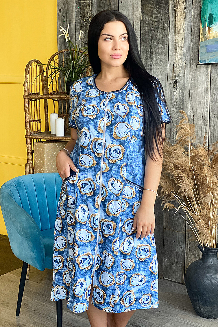 Халат 9028 для женщин НАТАЛИ 682128 купить оптом от производителя. Совместная покупка женской одежды в OptMoyo