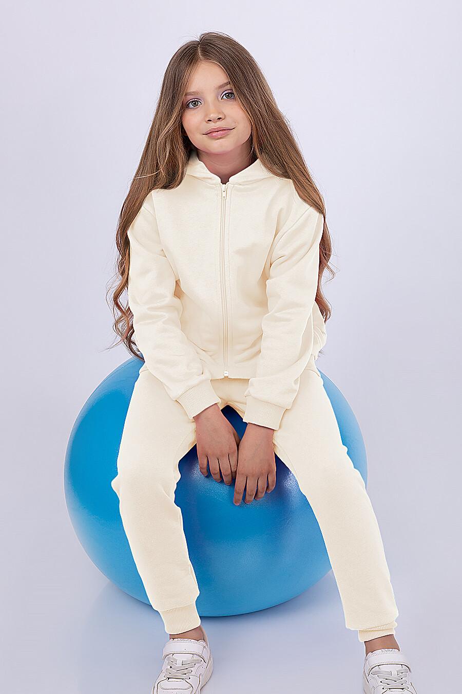 Костюм(Толстовка+Брюки) для девочек EZANNA 682392 купить оптом от производителя. Совместная покупка детской одежды в OptMoyo