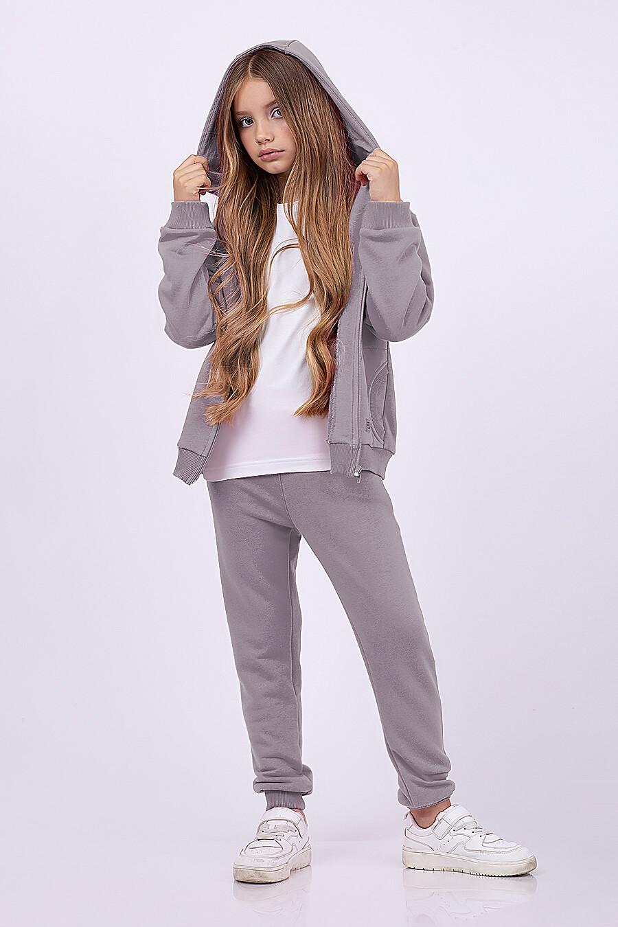 Костюм(Толстовка+Брюки) для девочек EZANNA 682398 купить оптом от производителя. Совместная покупка детской одежды в OptMoyo