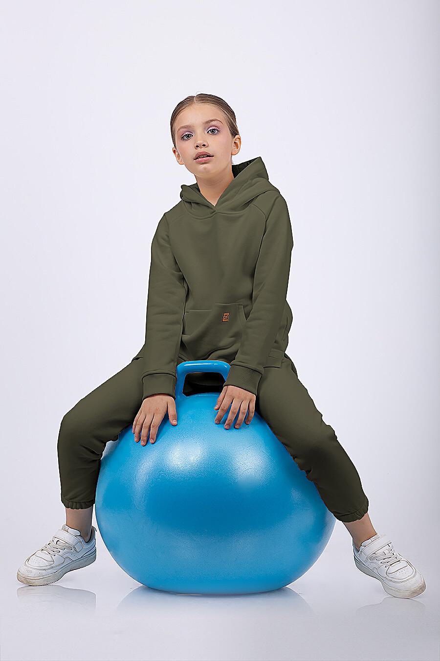 Костюм(Худи+Брюки) для девочек EZANNA 682443 купить оптом от производителя. Совместная покупка детской одежды в OptMoyo