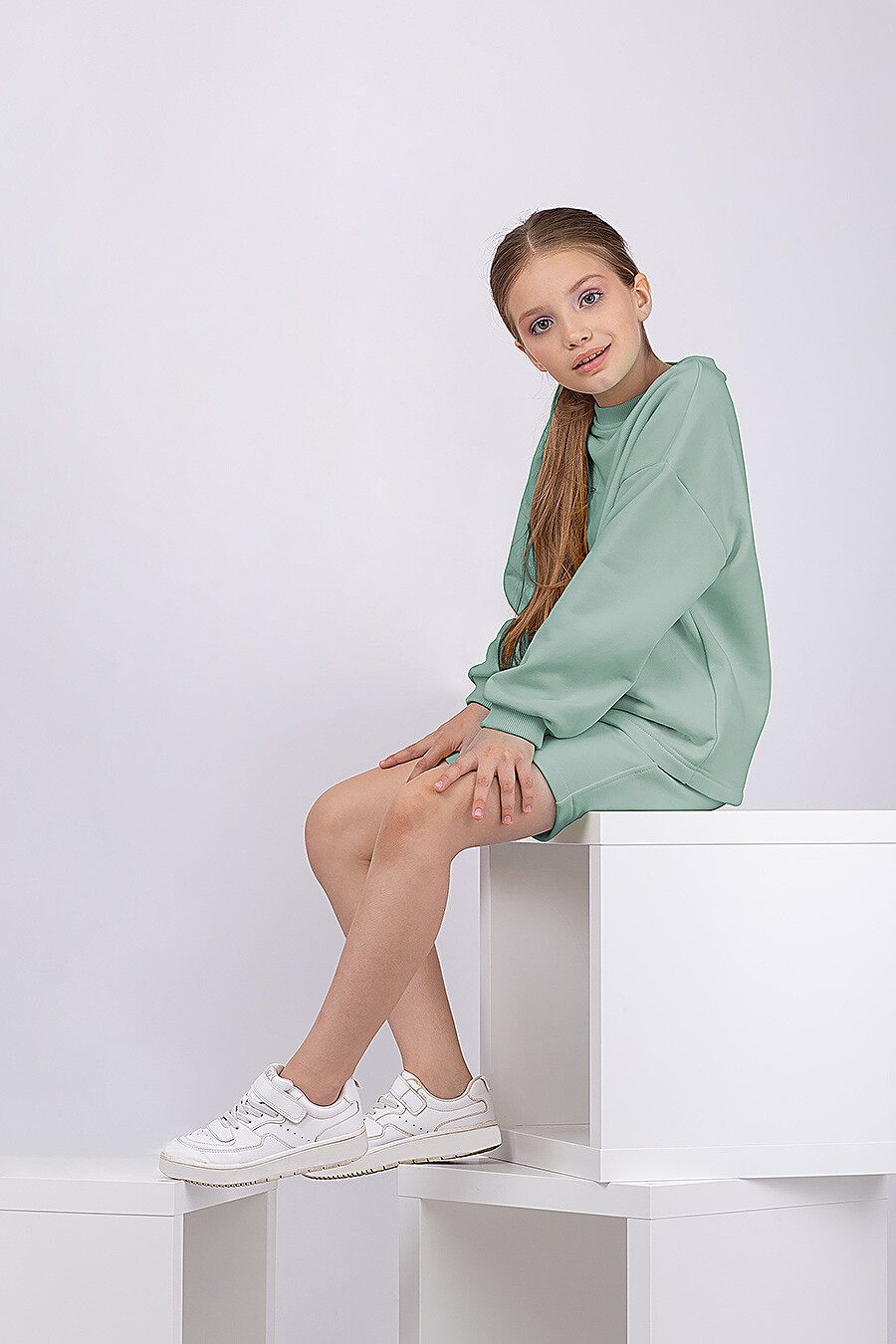 Костюм(Свитшот + Шорты) для девочек EZANNA 683223 купить оптом от производителя. Совместная покупка детской одежды в OptMoyo